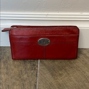 Fossil red wallet.